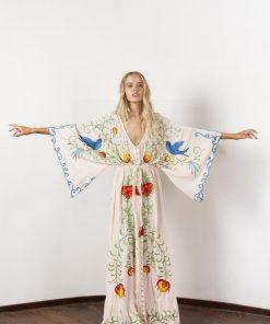 Weißes Hippie Kleid